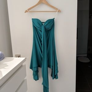 H&M green party dress